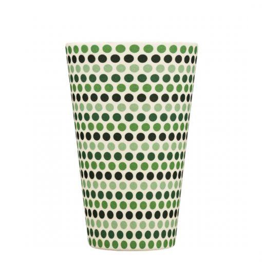 green-polka-bez