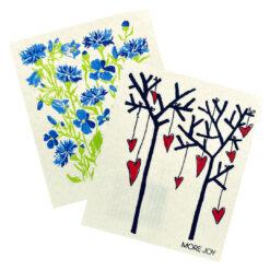 kuchynska-pratelna-utierka-2ks-modre-kvety-stromy-srdcia
